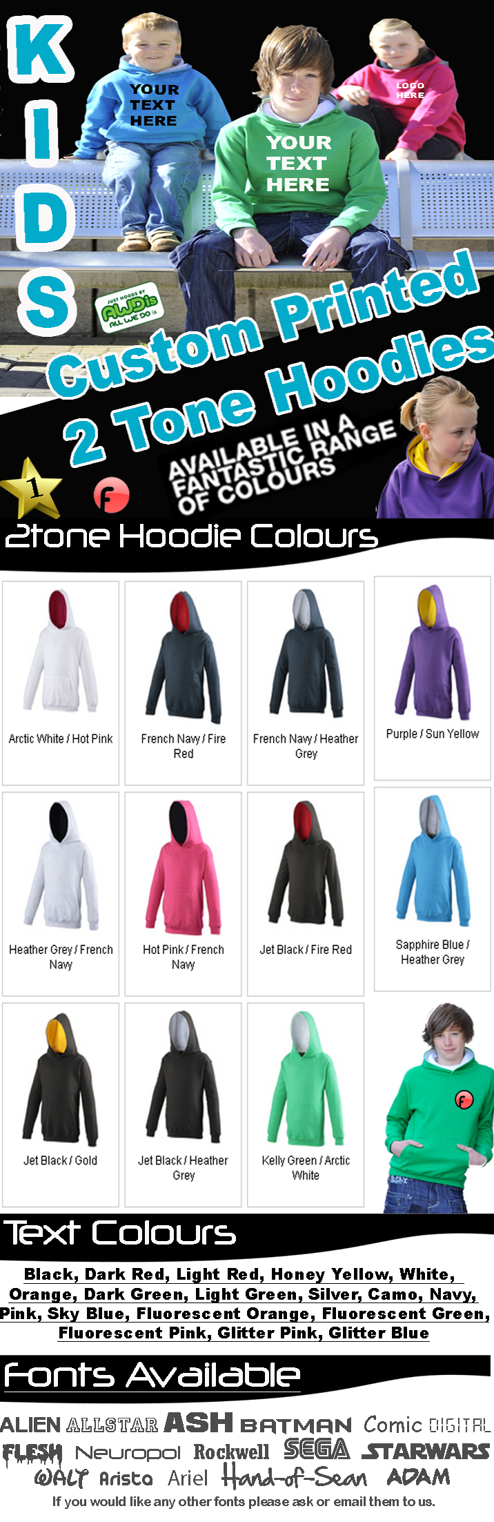 Fonfella Custom Printed Hoodies